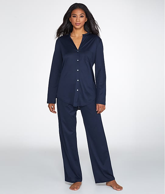 Hanro: Cotton Deluxe Knit Pajama Set
