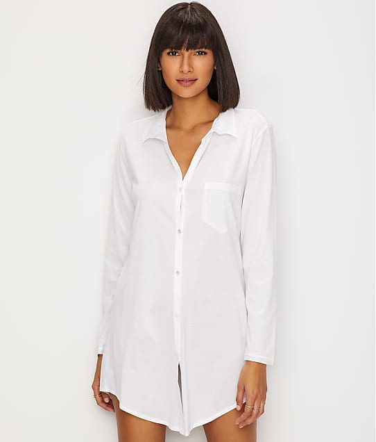 b39e90b0eb Hanro Cotton Deluxe Knit Sleep Shirt