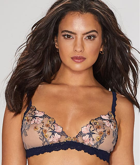 Hanky Panky: Embroidered Denim Bralette