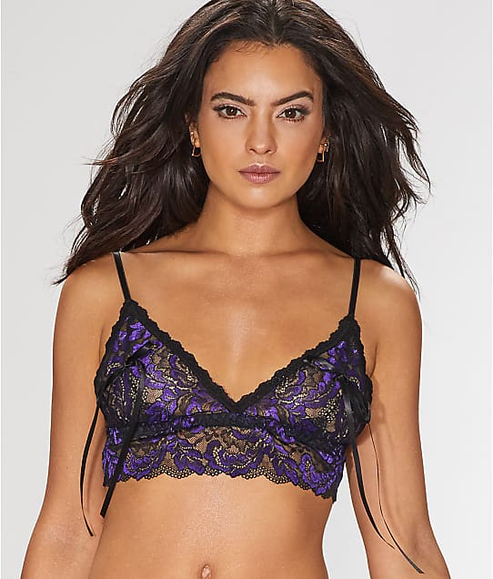 7bed3554c8ac8 Hanky Panky After Midnight Plumage Peek-A-Boo Bralette