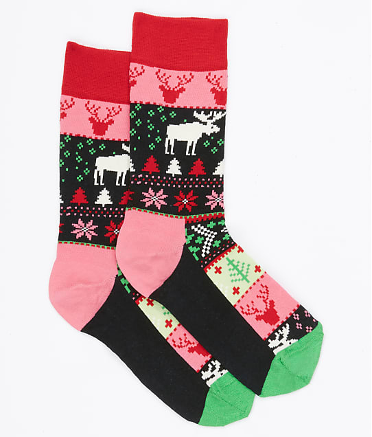 Happy Socks: Fair Isle Crew Socks