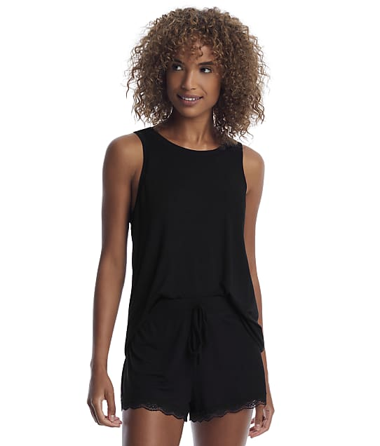 Honeydew Intimates All American Knit Shorts Set in Black 33951