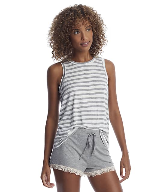 Honeydew Intimates Striped All American Knit Shorts Set in Ivory Stripe 33951-IVORY