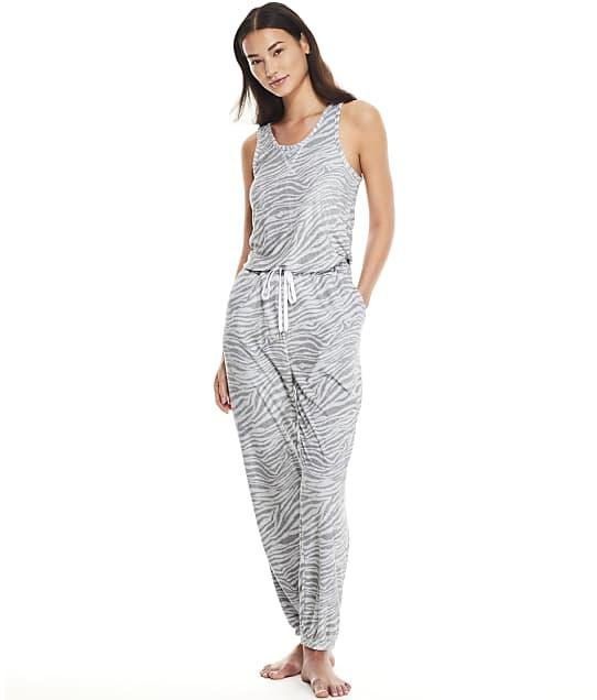 Honeydew Intimates Just Chillin' Terry Jumpsuit in Cinder Zebra 62525