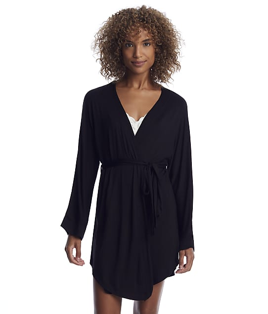 Honeydew Intimates: All American Black Knit Robe