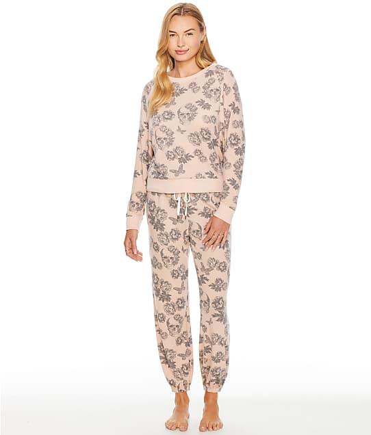 Honeydew Intimates Star Seeker Knit Pajama Set in Utopia Skulls(Front Views) 94113