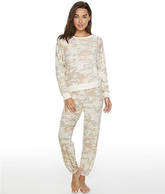 Honeydew Intimates Star Seeker Camo Knit Pajama Set in Macrame Camo(Front Views) 94113-CAMO