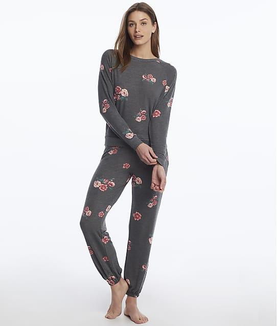 Honeydew Intimates: Star Seeker Black Rose Knit Pajama Set