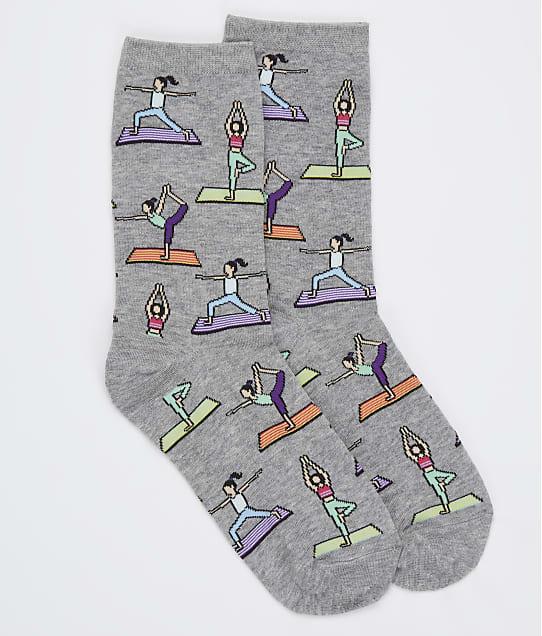 Hot Sox Yoga Crew Socks in Sweatshirt Grey HOD02104