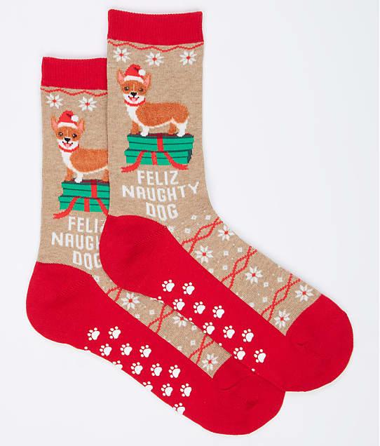 Hot Sox: Feliz Naughty Dog Slipper Socks