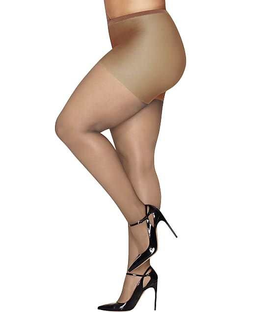 Hanes: Plus Size Curves Ultra Sheer Control Top Pantyhose