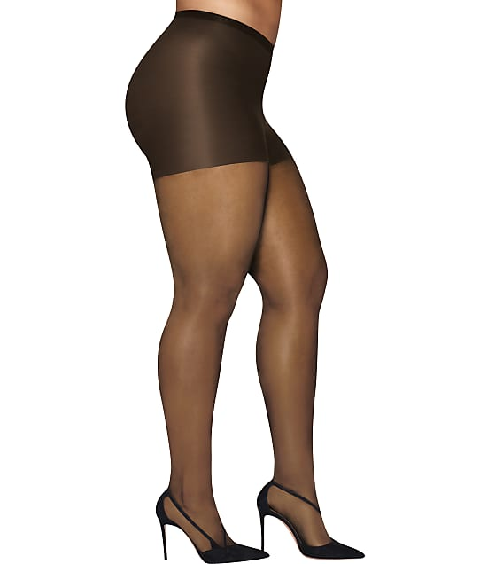 Hanes: Plus Size Curves Silky Sheer Control Top Pantyhose