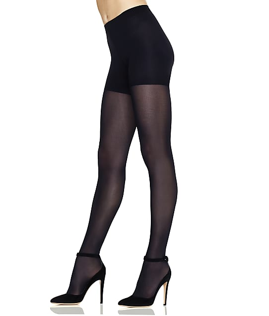 Hanes Perfect Comfort Flex Opaque Tights in Black(Front Views) HST003