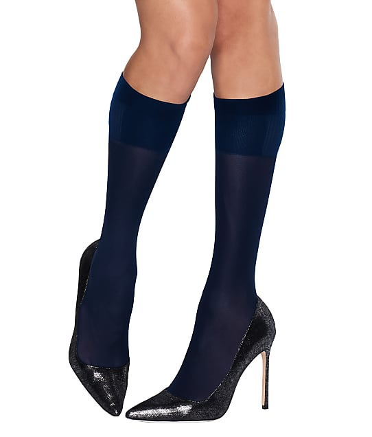 Hanes X-Temp Perfect Knee Highs 2-Pack in Navy HST012