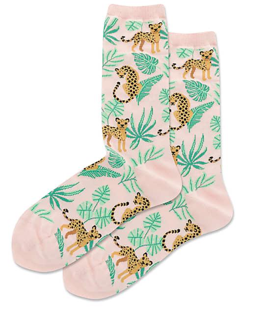 Hot Sox: Cheetah Crew Socks