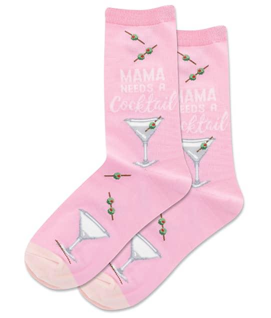 Hot Sox: Mama Needs A Cocktail Crew Socks