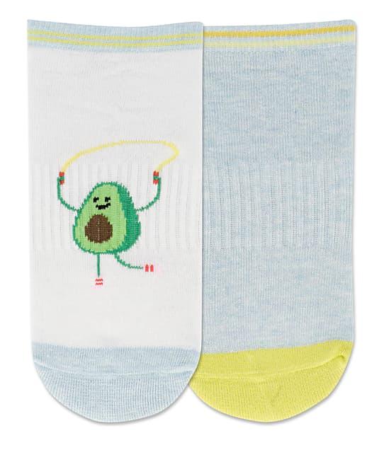 Hot Sox: Jump Rope Avocado Low Cut Socks 2-Pack