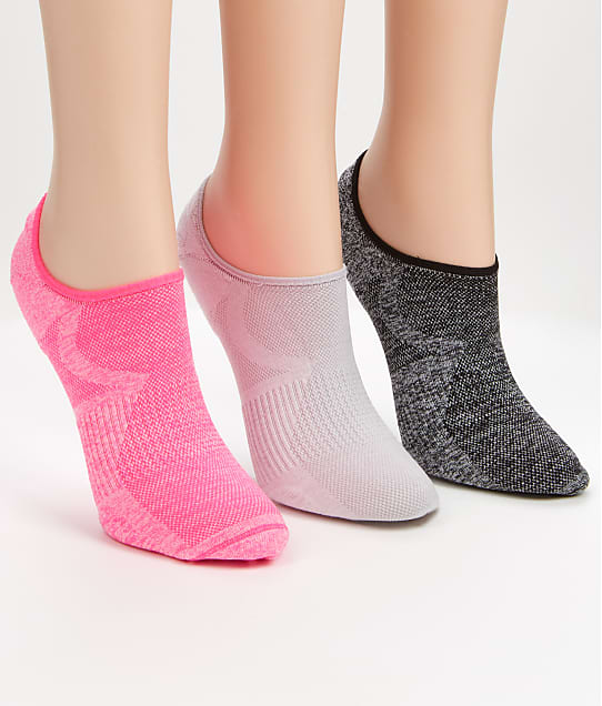 HUE: Air Sleek Cushion No Show Socks 3-Pack