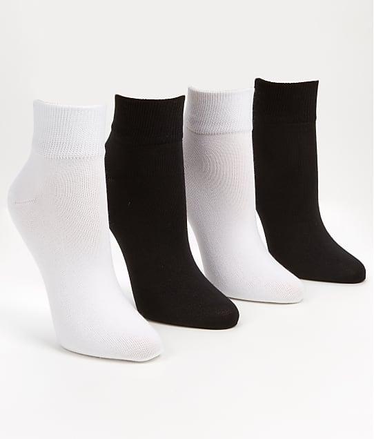 HUE: Super-Soft Cropped Socks 4-Pack