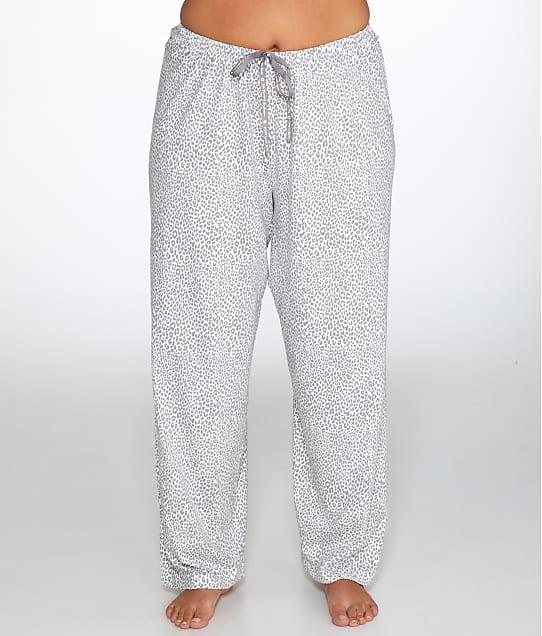 HUE: Plus Size Cheetah Knit Pajama Pants