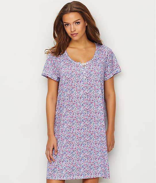 Karen Neuburger: Henley Knit Short Nightgown