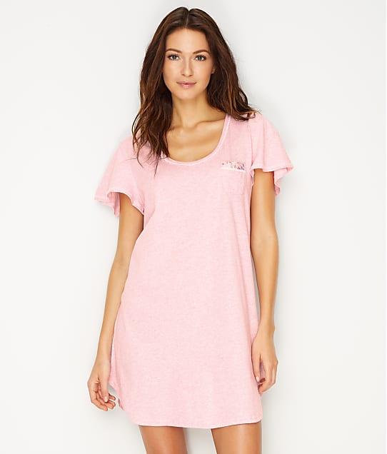 Karen Neuburger Heathered Knit Sleep Shirt in Heather Pink RA0135M