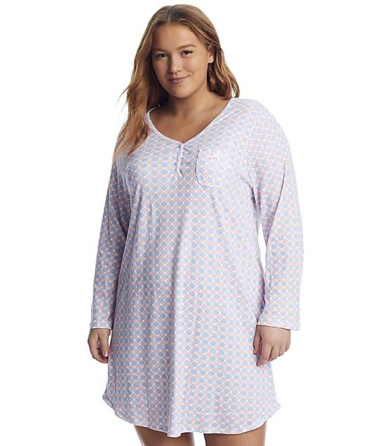 Karen Neuburger: Plus Size Geo Print Knit Sleepshirt