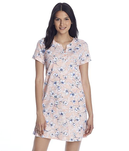 Karen Neuburger Palm Floral Knit Sleep Shirt in Palm Floral RA0313M