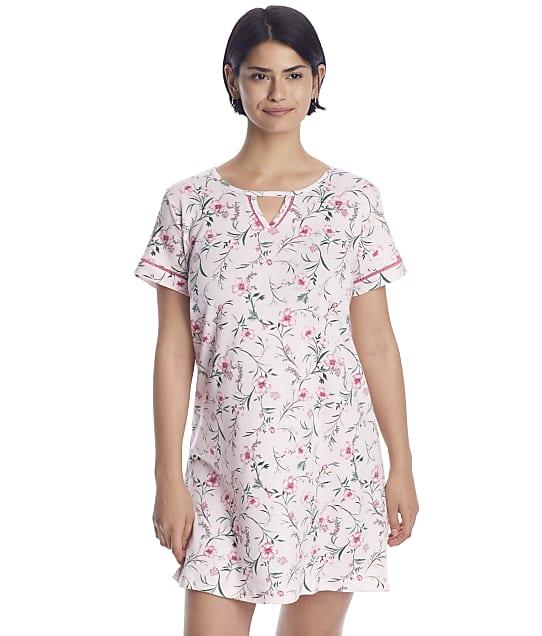 Karen Neuburger Plus Size Floral Knit Sleep Shirt in Flourishing Floral RA0318W
