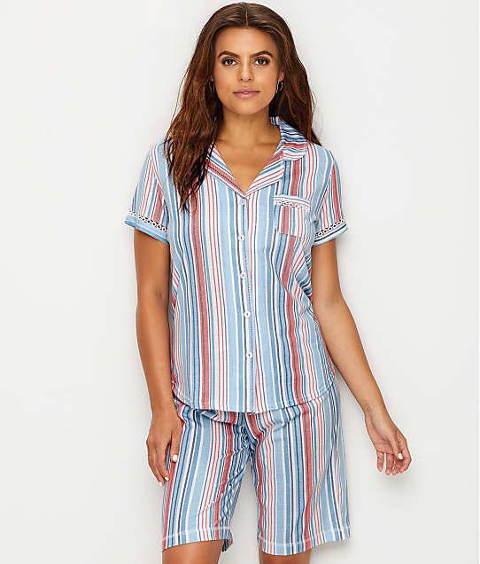 Karen Neuburger: Striped Knit Pajama Set