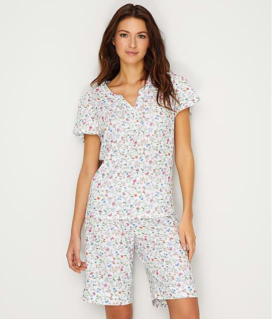 Karen Neuburger: Floral Knit Bermuda Pajama Set