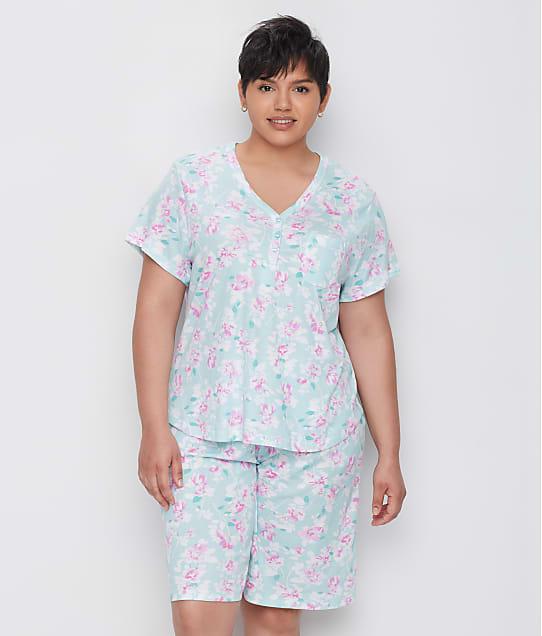 Karen Neuburger: Plus Size Sage Floral Bermuda Pajama Set