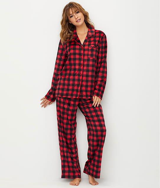 Karen Neuburger: Plaid Fleece Pajama Set