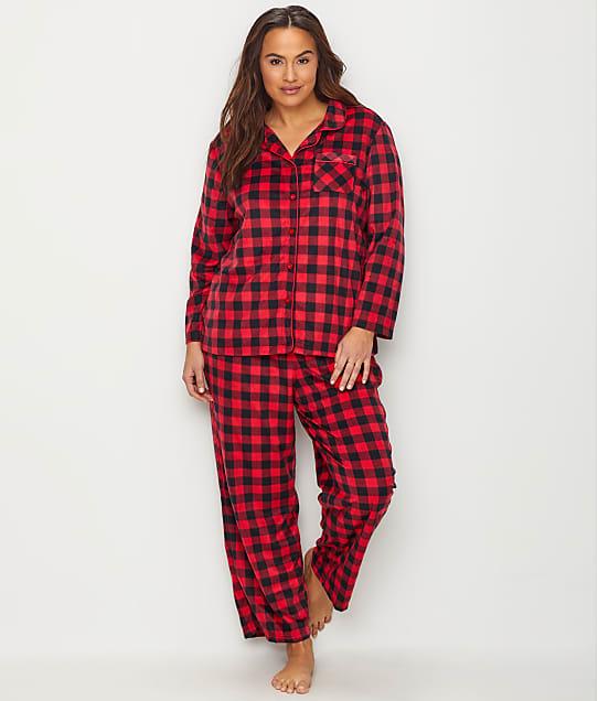 Karen Neuburger: Plus Size Plaid Fleece Pajama Set