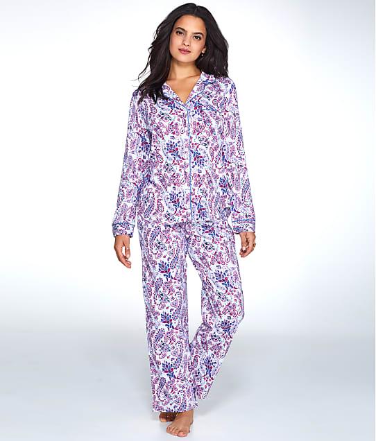 Karen Neuburger: Paisley Print Knit Pajama Set