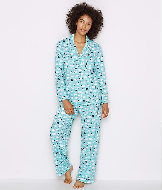 Karen Neuburger Girlfriend Knit Sheep Pajama Set in Blue Sheep RE0143M-BSHP