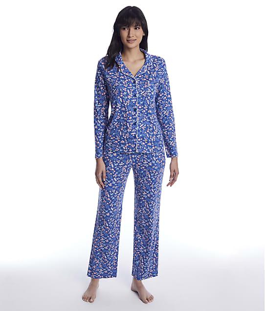 Karen Neuburger: Denim Ditsy Knit Pajama Set