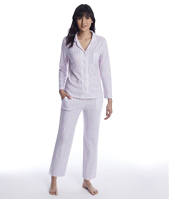 Karen Neuburger: Geometric Knit Pajama Set