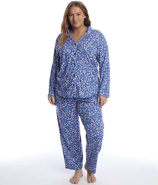 Karen Neuburger: Plus Size Denim Ditsy Knit Pajama Set