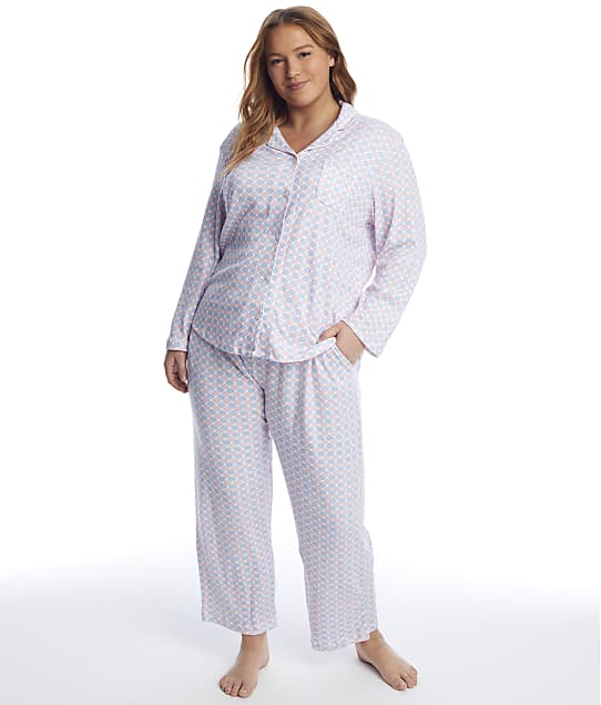 Karen Neuburger: Plus Size Geometric Knit Pajama Set