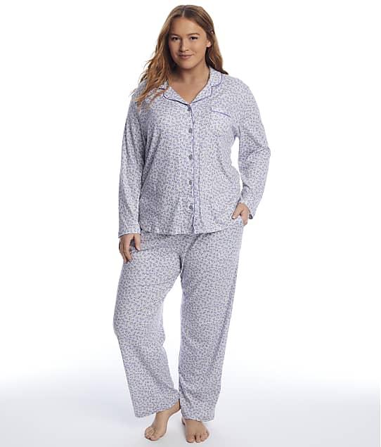 Karen Neuburger: Plus Size Floral Knit Pajama Set