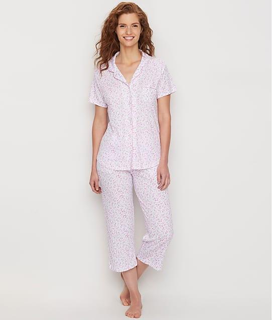Karen Neuburger: Garden Rosa Girlfriend Knit Cropped Pajama Set