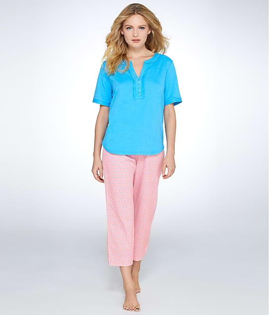 Karen Neuburger: Butterfly Garden Knit Henley Pajama Set