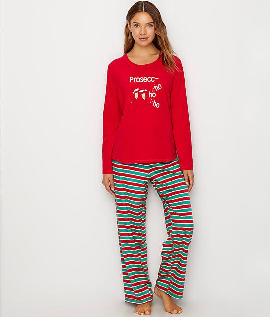 Karen Neuburger: Candy Cane Stripe Fleece Pajama Set
