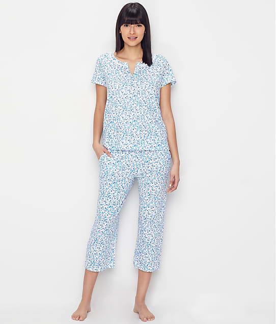 Karen Neuburger: Floral Knit Cropped Pajama Set