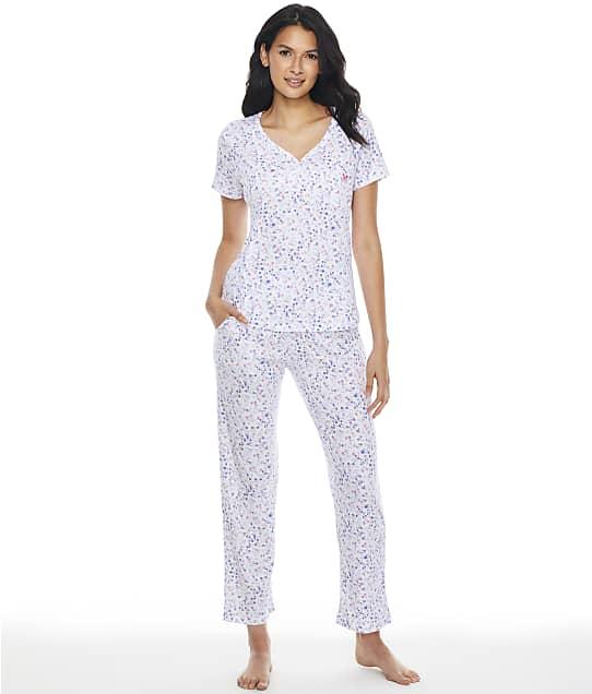 Karen Neuburger Serene Ditsy Girlfriend Knit Pajama Set in Serene Ditsy RF0414M