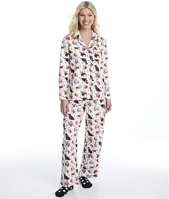 Karen Neuburger: Girlfriend Fleece Dog Pajama Set