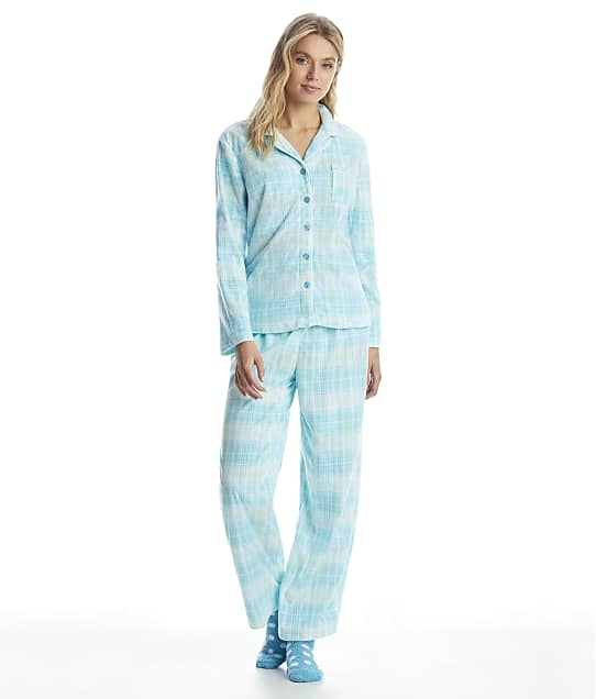 Karen Neuburger: Girlfriend Fleece Plaid Pajama Set