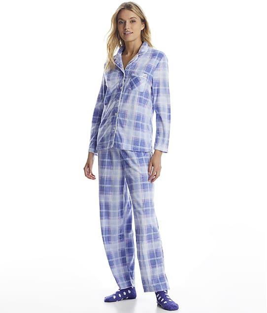 Karen Neuburger: Girlfriend Fleece Plaid Pajama Set