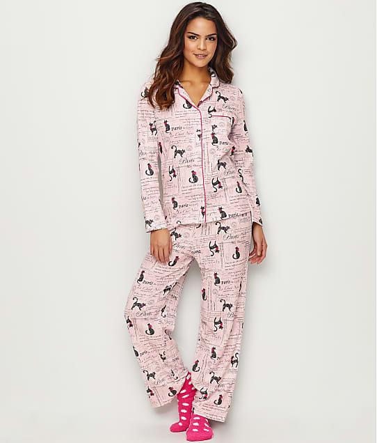 Karen Neuburger: Paris Feline Knit Pajama Set